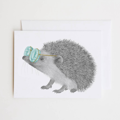 Whitby Valentine European Hedgehog Greeting Card with Whimsical Story