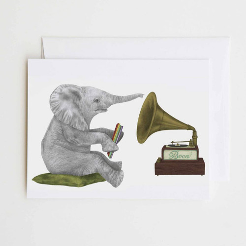 Newton Chapel African Elephant Greeting Card with Whimsical Story