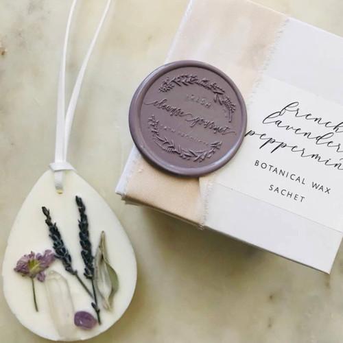 Botanical + Crystal infused Wax Sachet - Lavender