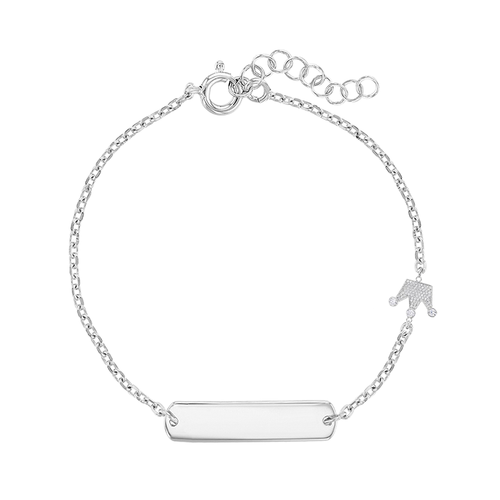 ID Bracelet with Crown Charm for Children