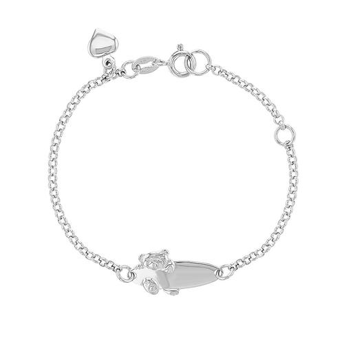 ID and Teddy Bear Childrens Bracelet
