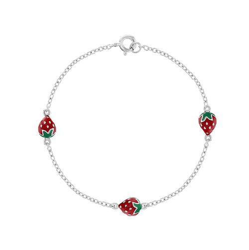 Childrens Strawberry Bracelet