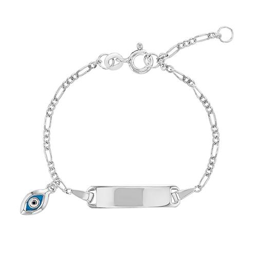ID Childrens Bracelet with Evil Eye Charm
