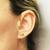 14k yellow gold and diamond elephant stud earrings