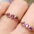 Amethyst Trinity Ring