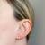 14k Wishbone Earrings with Diamonds