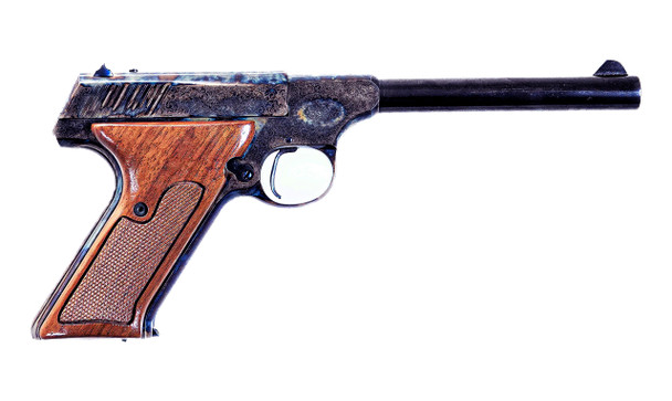 .22 Semi Automatic Pistol, Case Colored Engraved
