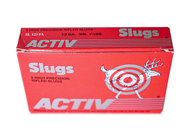 """Activ Precision Rifled Slugs 12ga (3"""" Shell / 1 1/4 Oz) - 5 Pack - $7.59"""