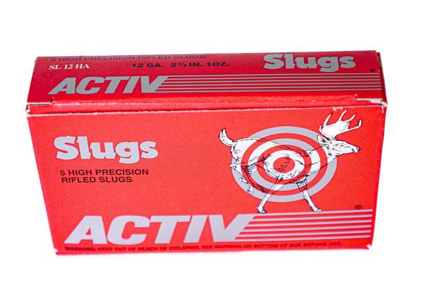 """Activ Precision Rifled Slugs 12ga (2 3/4"""" Shell / 1 Oz ) - 5 Pack - $7.59"""