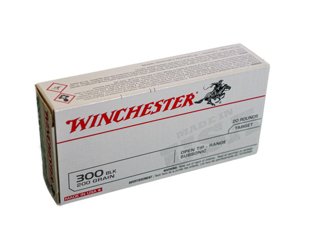 Winchester USA Target 300 BLK (200 Grain) Open Tip Range Subsonic - 20 Rounds - $44.75