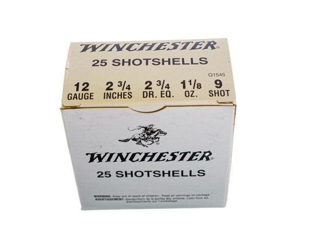 "Winchester USA Shot Shells 12ga (2 3/4"" Shell / 1 1/8 Oz / 9 Shot) - 25 Pack - 16.54"
