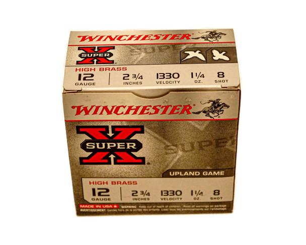 "Winchester Super-X High Brass Game Loads Shotshells 12ga (2 3/4"" Shell / 1 1/4 Oz / 8 Shot) - 25 Pack - $14.99"