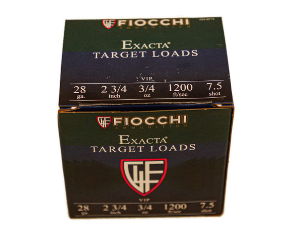 "Fiocchi Exacta Target Loads 28ga (2 3/4"" Shell / 3/4 Oz / 7 1/2 Shot) - 25 Pack - $12.99"