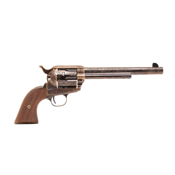 Single Action Revolver C-Coverage Engraving .45 LC