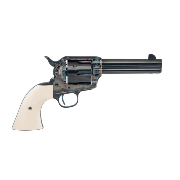 Single Action Revolver With Faux Ivory Grips .44 WCF