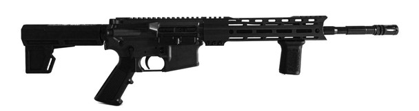 "STD-15A Black 5.56, 14.5"" Barrel."