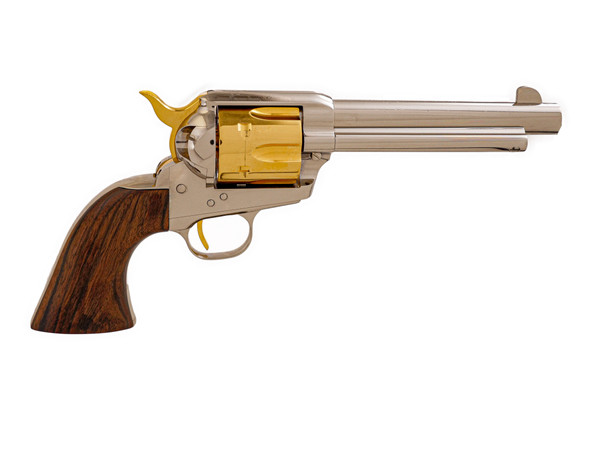 Single Action Revolver Nickel & Gold Plated, .45 LC (LIMITED EDITION)