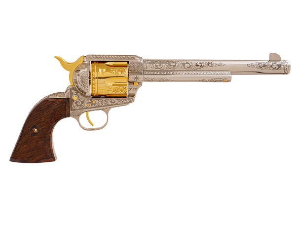 Single Action Revolver Nickel & Gold Plated w/C-Coverage Engraving, .45 LC (LIMITED EDITION)