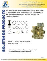 Kit de reparación que incluyeel pistón principal para la válvula Bendix HR-1.