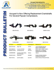 Accupart Is Now Offering Replacement Crankshafts For Several Popular Compressors.