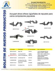 Accupart ahora ofrece cigüeñales de repuesto para varios compresores populares