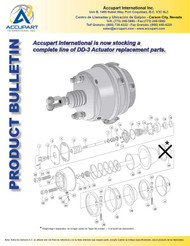 Accupart International is now stocking a  complete line of DD-3 Actuator replacement parts.
