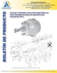 Accupart  Internation ahora tiene disponible una línea completa de piezas de repuestos para  Actuadores DD-3.