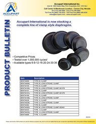 Accupart International is now stocking a complete line of clamp diaphragms.