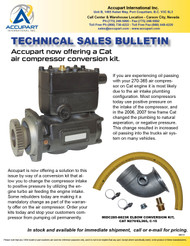 Accupart now offering a Cat  air compressor conversion kit.