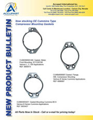 Now stocking OE Cummins Type  Compressor Mounting Gaskets