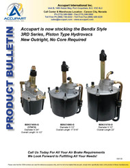 Accupart is now stocking the Bendix Style 3RD Series, Piston Type Hydrovacs New Outright, No Core Required