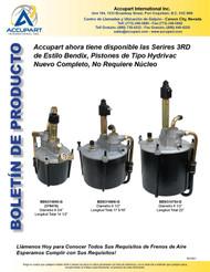 Accupart ahora tiene disponible las Serires 3RD de Estilo Bendix, Pistones de Tipo Hydrivac  Nuevo Completo, No Requiere Núcleo