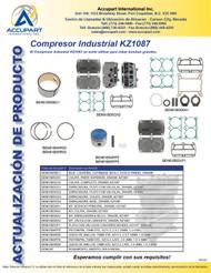 El Compresor Industrial KZ1087 se suele utilizar para cebar bombas grandes.