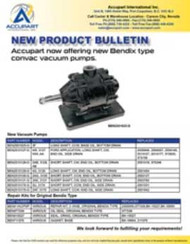 Accupart now offering new Bendix type  convac vacuum pumps.