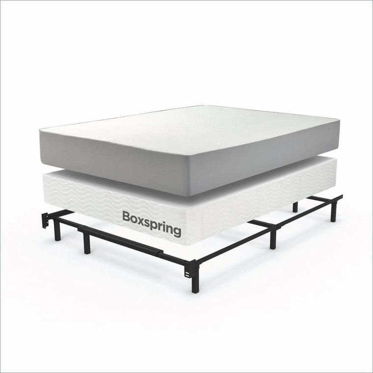 Mattress + Boxspring + metal frame