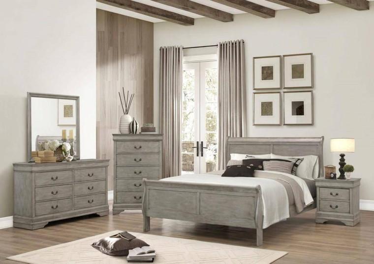 Louis Philip Bedroom Suite Grey