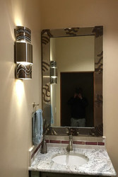 Custom Mirror and Wall Sconce
