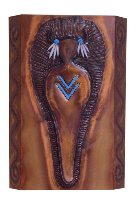 Medicine Man wall sconce.  Great addition to any SW themed space.  Handcrafted with pride in Austin, TX by skilled artisans.