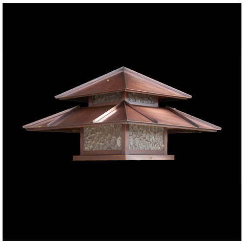 Double Roof Lantern Post Light