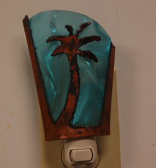 Palm Tree with Aqua