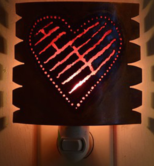 Heart Night Light with Red - Lighted