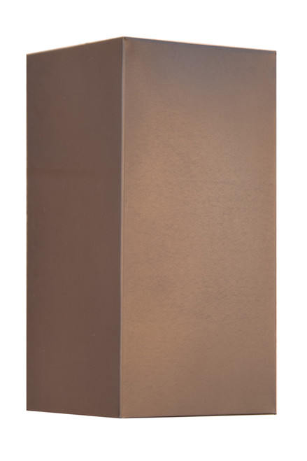 Medium antique copper wall sconce.  Available with an opaque lid for dark sky compliant lighting.  Also available in an ADA lighting model.  Ask us for your special lighting needs.