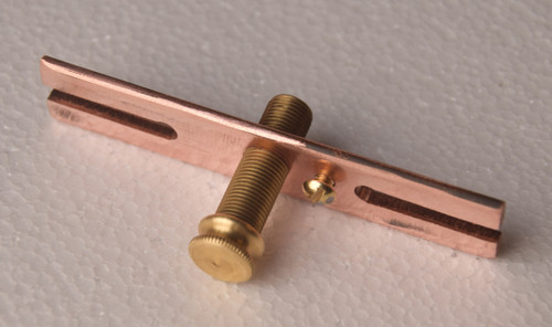Solid brass cross bar, nipple, cap nut and ground screw.  Excellent for harsh climates.