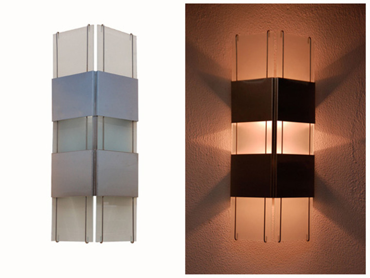 Our ever popular wall sconce with a beautiful display of light projecting from the sides, top and bottom.  Available for customization to your specific needs and desires.  Just contact us at 866 458-5406 or kent@lightcrafters.com