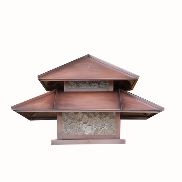 Double Roof Lantern Post Light