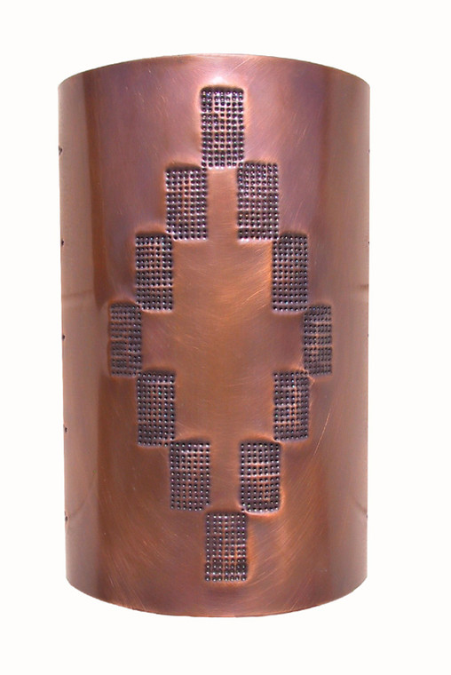 Shadow Mountain Wall Sconce in medium antique copper.