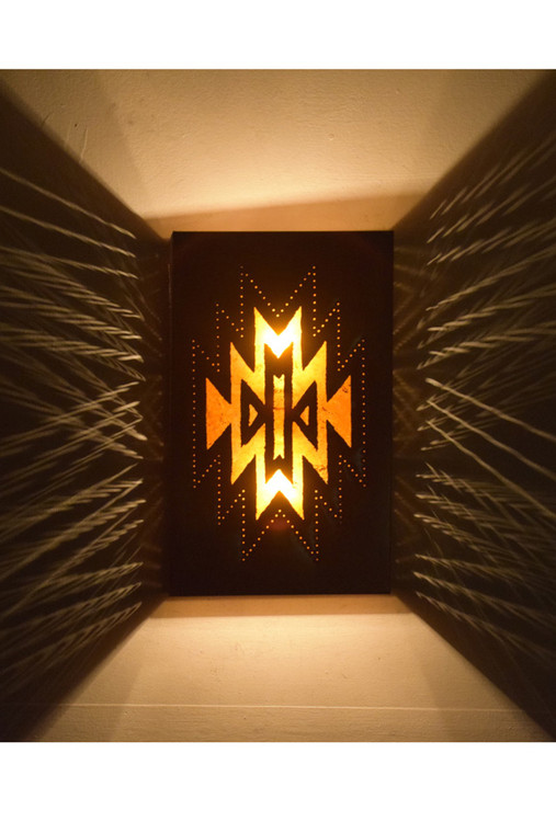 Zuni Copper and Mica Wall Sconce - Lighted