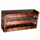 """Slat Mailbox - Mottled Copper finish and water glass - Horizontal - coordinates with our popular """"Slat"""" wall sconce."""