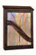 Art Glass Mailbox - dark antique copper finish with amber iridized glass