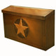 Texas Star Mailbox - Horizontal - antique copper finish